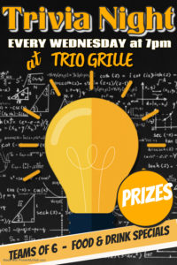 Wednesday is trivia night at trio